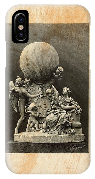 Model Of A Statue Dedicated To French Balloonists IPhone Case