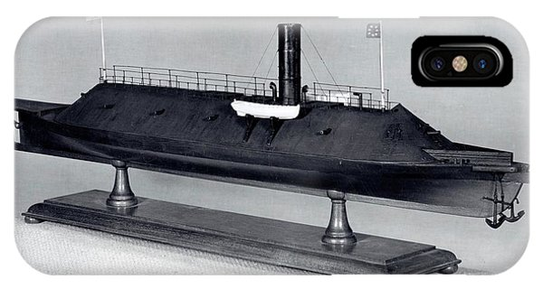 1862 iPhone Case - Model Of Ironclad Warship Css Virginia by Us Navy/naval History And Heritage Command