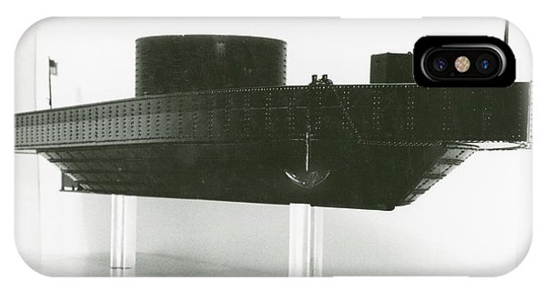 1862 iPhone Case - Model Of Ironclad Warship Uss Monitor by Us Navy/naval History And Heritage Command