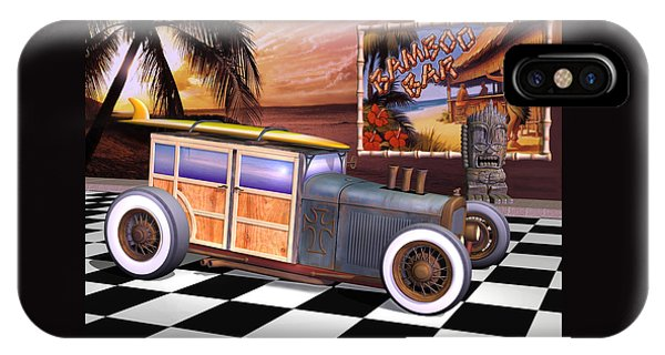 Model T Surf Woody IPhone Case