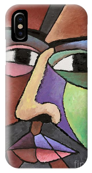 modern abstract art - About Face IPhone Case