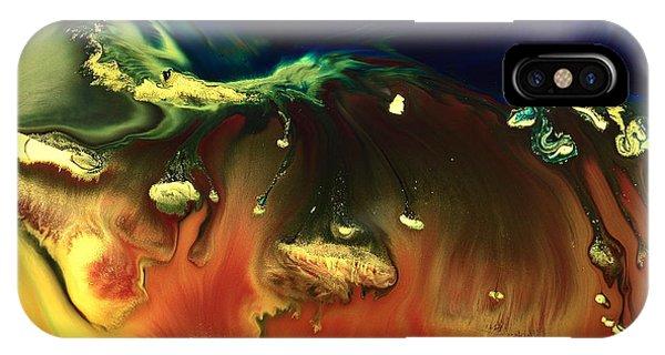 Modern Abstract Art Sinking Rocks By Kredart IPhone Case