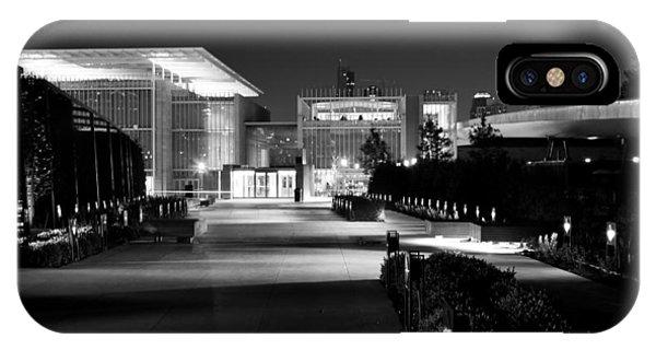 Modern Architecture Night Black White IPhone Case