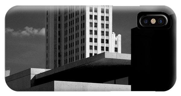 Modern Art Deco Architecture Black White IPhone Case