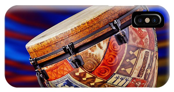 Modern Djembe African Drum Photograph In Color 3336.02 IPhone Case