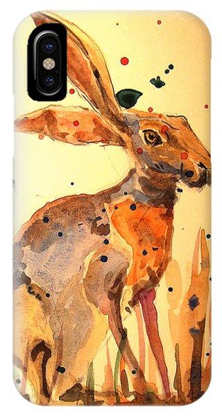 Rabbit iPhone Case - Modern Hare by Juan  Bosco