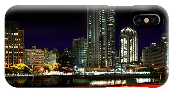 Modern Sao Paulo Skyline Near Brooklin District And Stayed Bridge IPhone Case