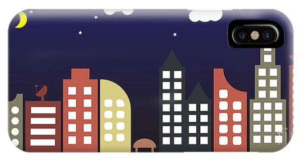 Modern Urban Building Landscape Vector Phone Case by Bwart