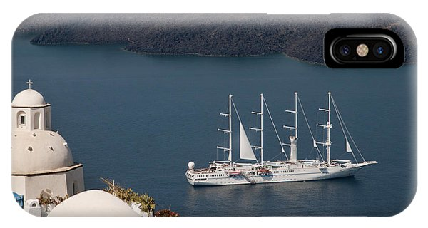 Modern Windpowered Ship IPhone Case