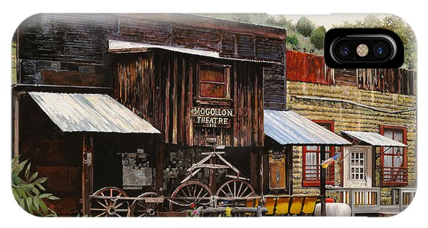 New Mexico iPhone Case - Mogollon-theatre-new Mexico  by Guido Borelli