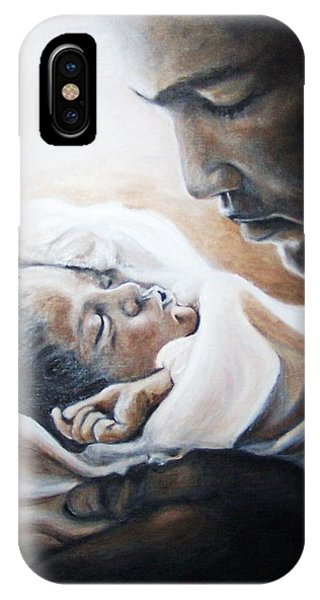 Mohammad Ali And Baby Laila IPhone Case