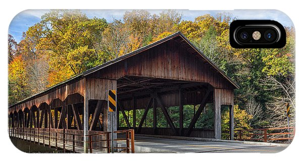 Mohican Covered Bridge IPhone Case