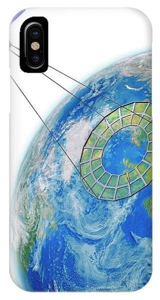 Earth Orbit iPhone Case - Moire Spy Satellite by Claus Lunau