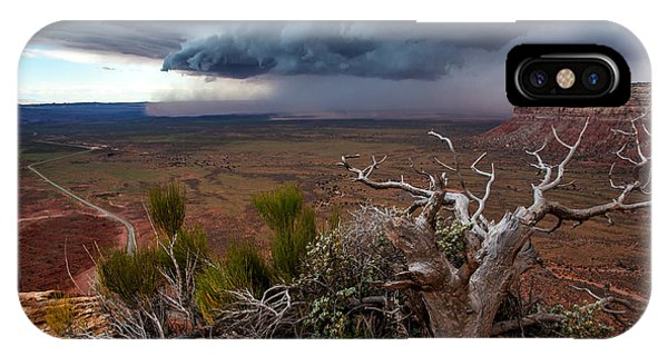 Moki Dugway Thunderstorm - Southern Utah IPhone Case