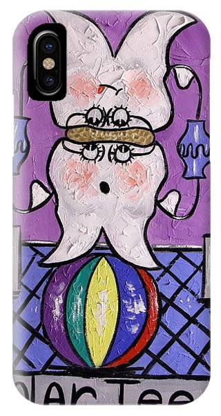 IPhone Case featuring the painting Molar Teeth by Anthony Falbo