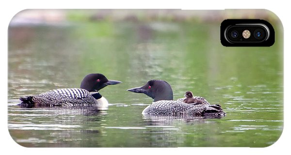 Mom And Dad Loon With Baby On Back IPhone Case