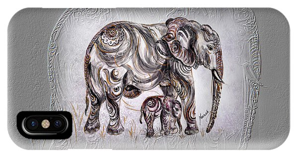 Mom Elephant IPhone Case