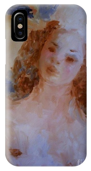 IPhone Case featuring the painting Mom Near Jupiter by Laurie Lundquist