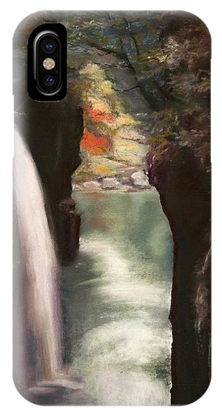 Moment Of Eternity - Takachiho Falls Phone Case by Marie-Claire Dole