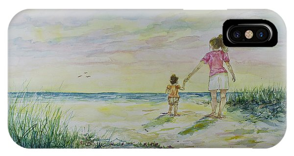 Mommy And Me At The Beach IPhone Case