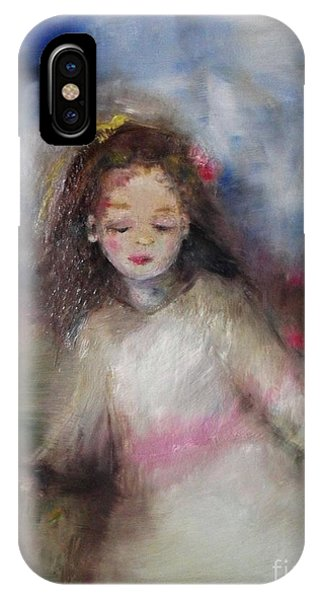 IPhone Case featuring the painting Mommy's Little Girl by Laurie Lundquist