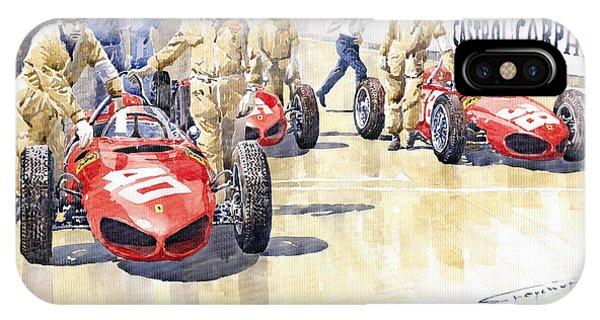 Auto iPhone Case - Monaco Gp 1961 Ferrari 156 Sharknose  by Yuriy Shevchuk