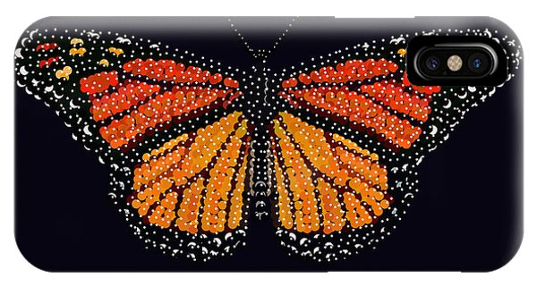 Monarch Butterfly Bedazzled IPhone Case