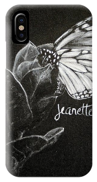 Monarch Butterfly On Milkweed IPhone Case