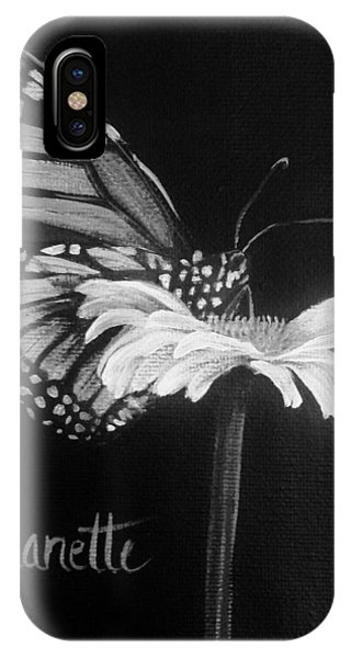 Monarch On A Daisy IPhone Case