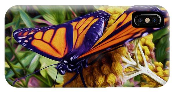 Monarch On Yarrow IPhone Case