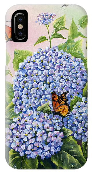 Monarchs And Hydrangeas IPhone Case