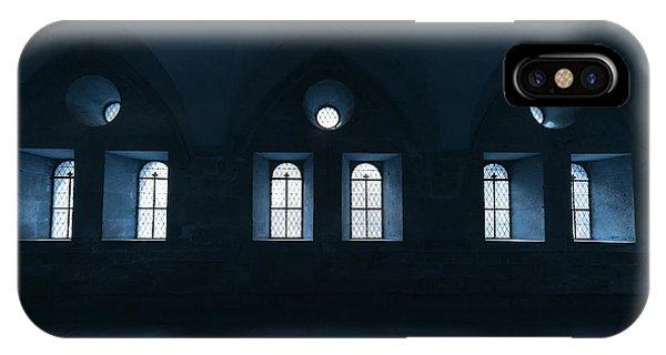 Dark Blue iPhone Case - Monastery by Uschi Hermann