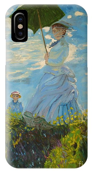 Monet-lady With A Parasol-joseph Hawkins IPhone Case