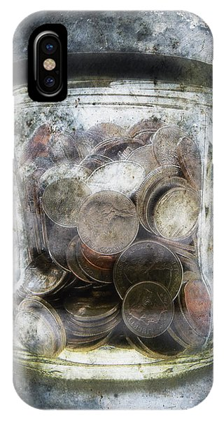 Anguish iPhone Case - Money Frozen In A Jar by Skip Nall