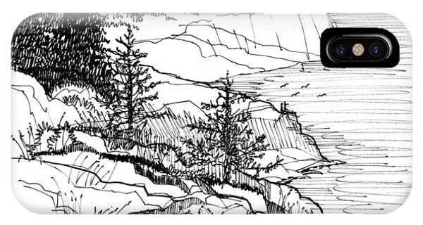 Monhegan Cliffs 1987 IPhone Case