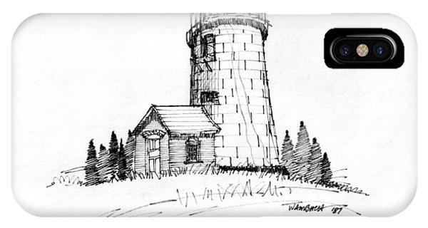 Monhegan Lighthouse 1987 IPhone Case