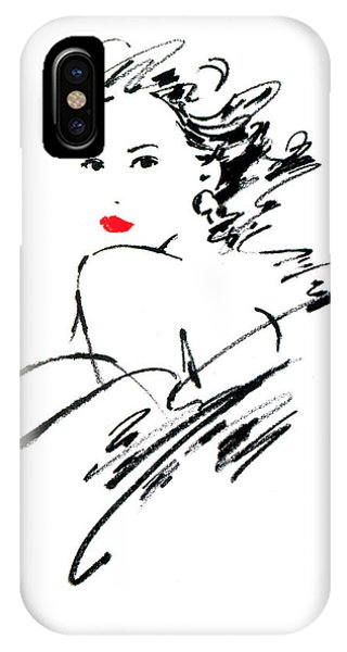 Pastel Pencil iPhone Case - Monique Variant 1 by MGL Meiklejohn Graphics Licensing