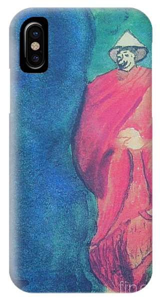 Monk Phone Case by Debbie Nester