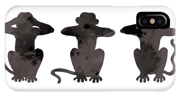 Monkey Painting Watercolor Art Print IPhone Case