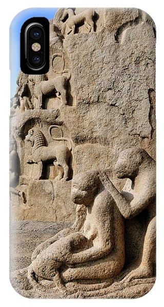 Roxbury iPhone Case - Monkey Sculptures Near The Arjuna's by Steve Roxbury