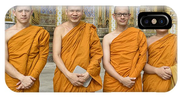 Monks At The Grand Palace IPhone Case
