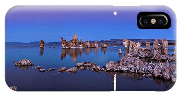 Rock Formation iPhone Case - Mono Lake Moon Rise by Hua Zhu