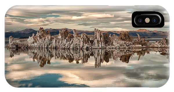 Salt Water iPhone Case - Mono Lake Reflections by Cat Connor