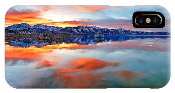Mono Lake Sunset 3 IPhone Case