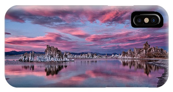 Salt Water iPhone Case - Mono Lake Sunset by Cat Connor