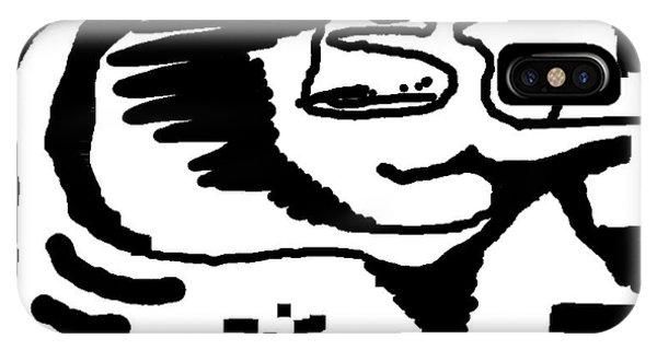 Monochrome New1builder3 Glyph 4 IPhone Case