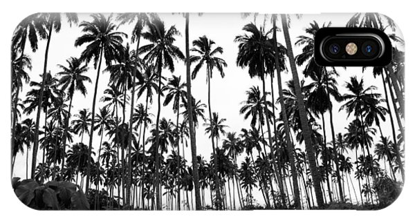 Monochrome Palms IPhone Case