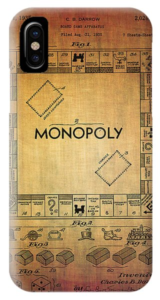 Monopoly Board Game Apparatus From 1935  IPhone Case