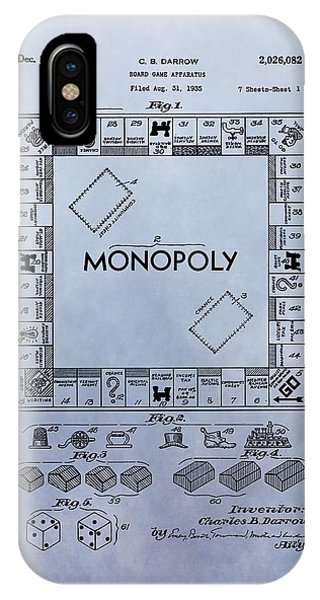 Toy Shop iPhone Case - Monopoly Board Game Patent by Dan Sproul