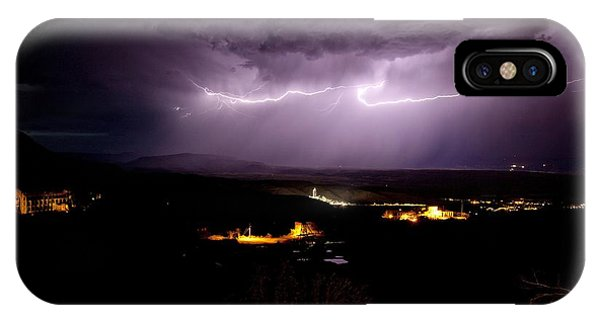 Monsoon Horizontal Lightning IPhone Case